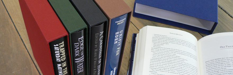 Highend Cardboard Slipcases, perfect to protect valuable books