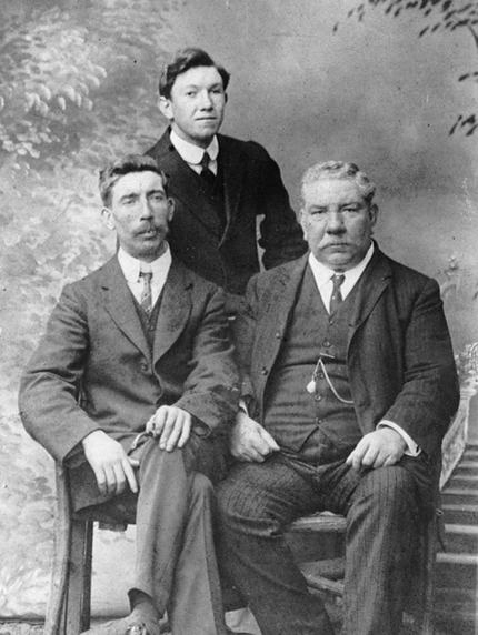 Liam MacCarthy started making boxes in 1880, two of his sons are also pictured, Eugene and Bill